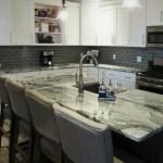 Modern Farmhouse Kitchen Remodel White Shaker Cabinets Gray Island