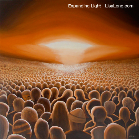 Expanding Light, Original Oil painting