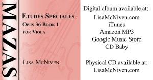 Audio recording of Mazas Etudes Speciales Opus 36 Book 1 for Viola