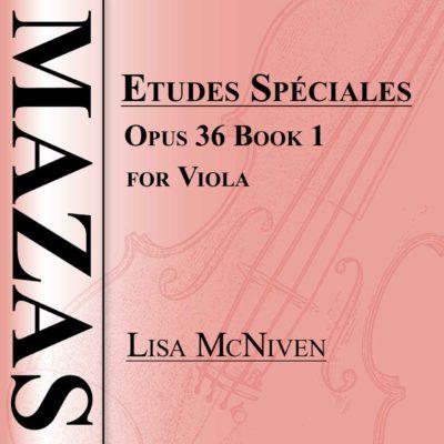Mazas Etudes Speciales Opus 36 Book 1 for Viola, audio CD MP3 recording