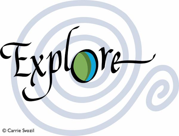 Explore graphic:original artwork copyright Carrie Svozil