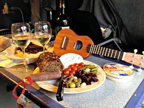 Dinner in our campervan in Etretat ,France