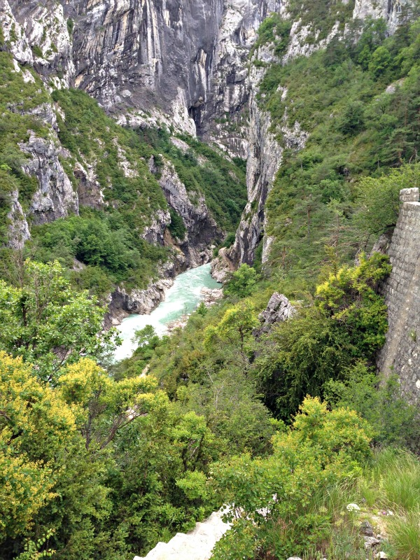 View of Gorges of Verdon from Sentier Martel. Practicing What I Preach. LisaNalbone.com