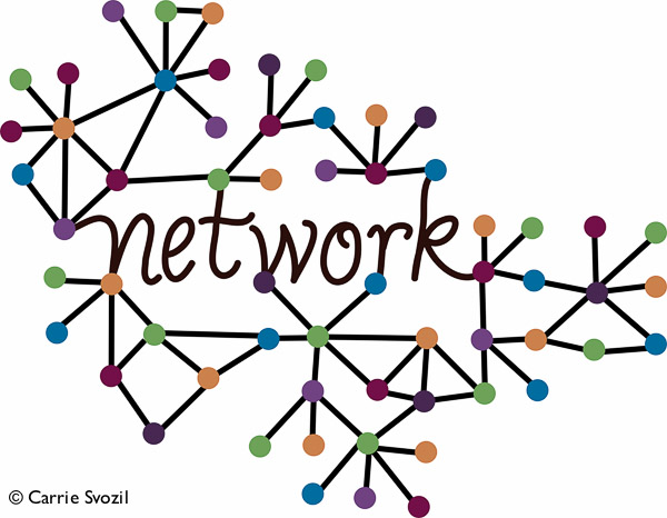 N is for Network graphic www.LisaNalbone.com