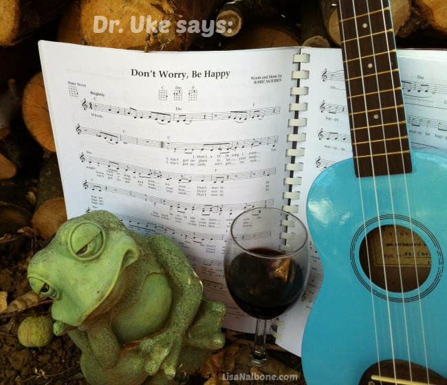 Ukulele and Frog: Don't Worry Be Happy photo www.lisanalbone.com