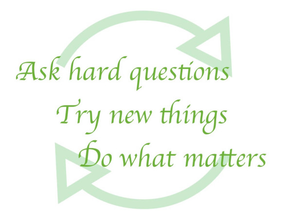 Use a daily 3-step process to question, practice reflection and take action.