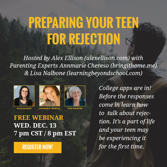 Preparing Your Teen for Rejection Webinar