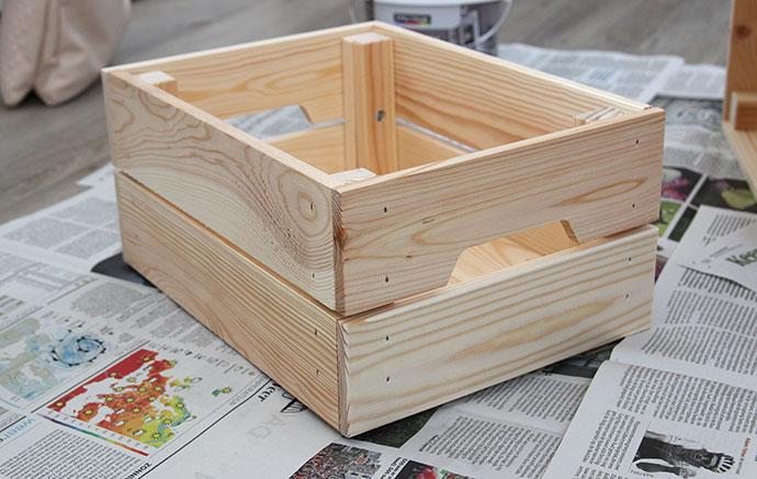Ikea kisten hout  Kleine kastjes voor aan de muur