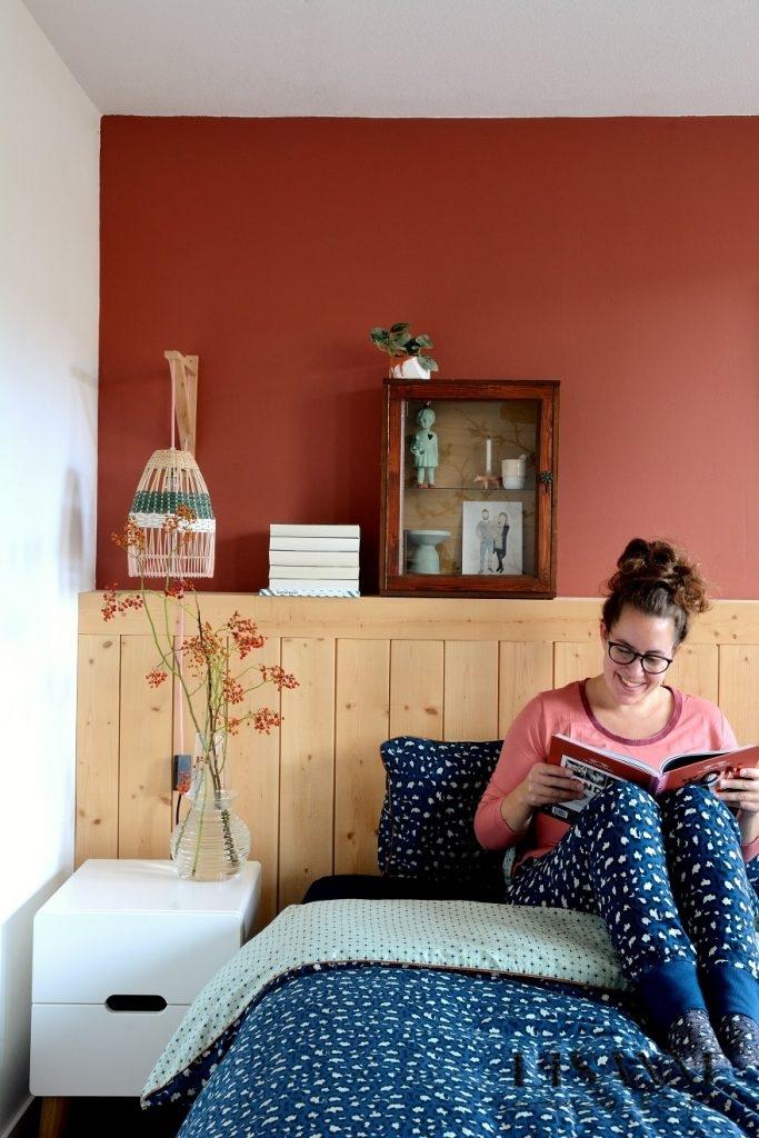 Een donkerblauwe panterprint voor de slaapkamer  Lisanne