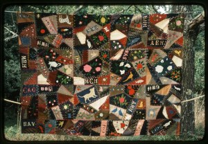 photo of crazy quilt