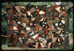 photo of crazy quilt