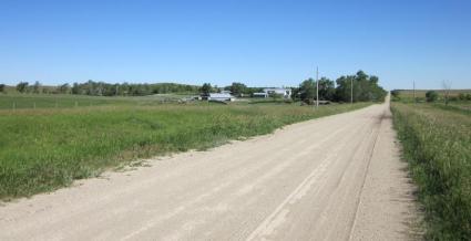 Looking north toward the farm