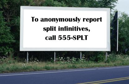 Split Infinitives billboard