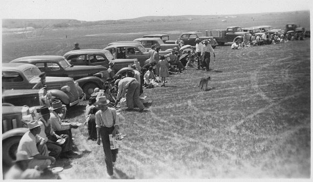 8th Anniversary Celebration of CCC-ID, Pine Ridge, SD 1941 via Wikimedia Commons