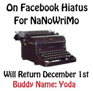 NaNoWriMo Typewriter