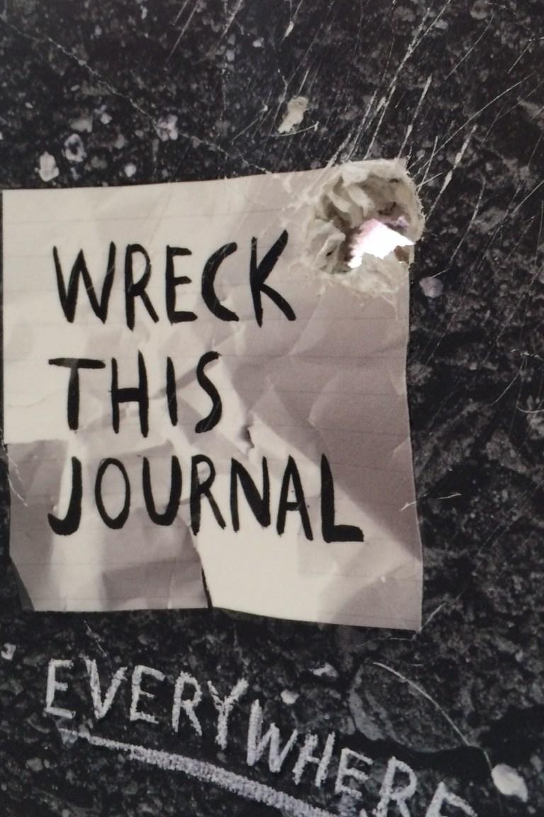 Hole-y wrecked journal, Batman!