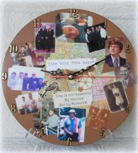 Personalized Photo Collage Memory Wall Clock