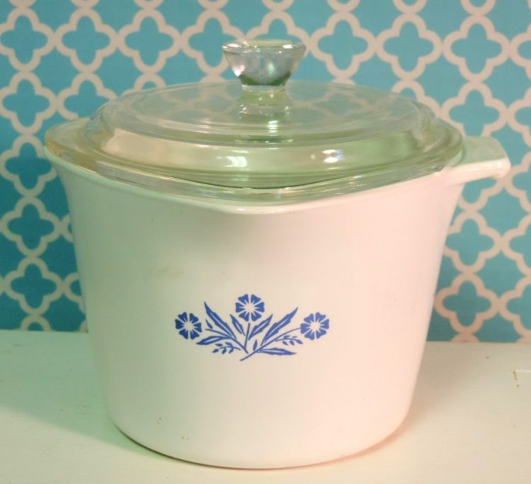 Corning Ware Cornflower Blue Sauce Maker Pot