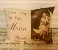 Vintage Inspired I Love You To The Moon and Back Printed