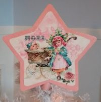 Handmade Pink Shabby Chic Vintage Victorian Christmas Tree