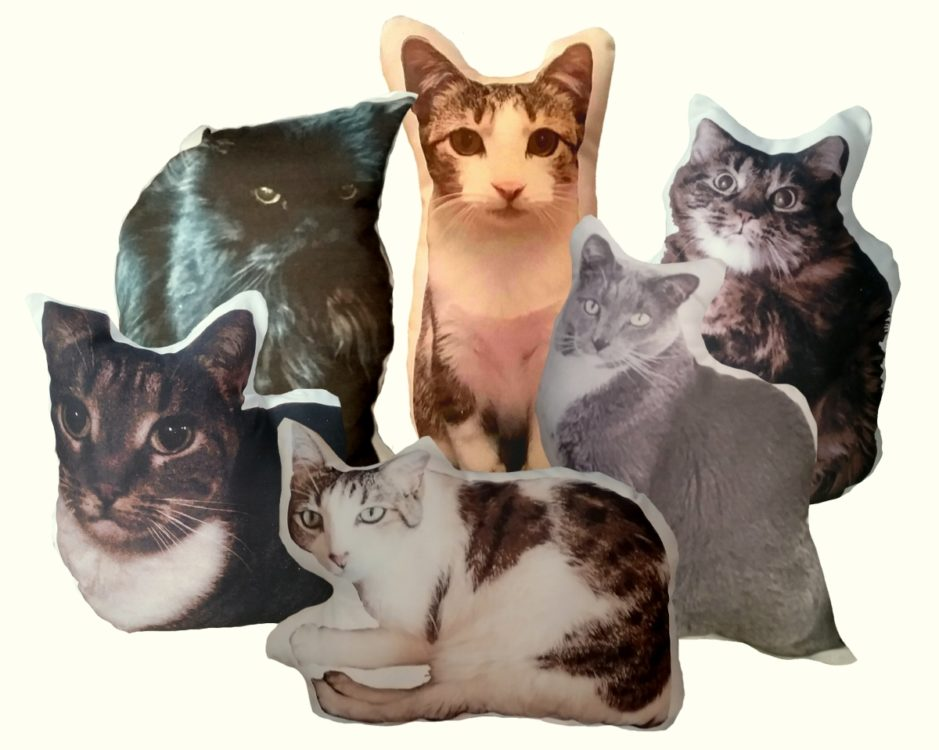 Personalized Cat Shaped Photo Pillow Cat Lover Gift
