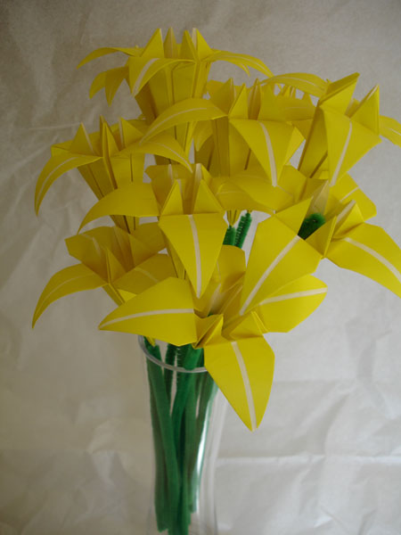 Yellow Origami Flower Bouquet