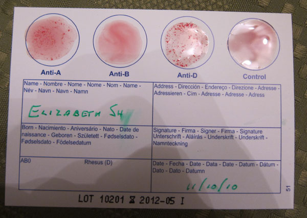 At Home Blood Type Test - Low Carb