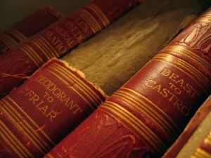An image of a set of bound encyclopedias