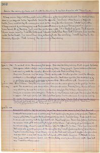 Image of a page from John Steinbeck's hand-written journal for The Grapes of Wrath.