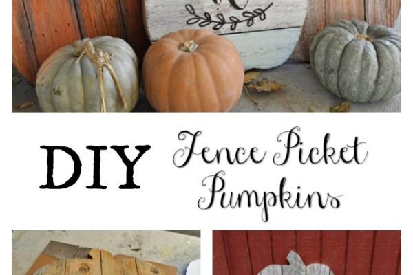 Fence Picket Pumpkins