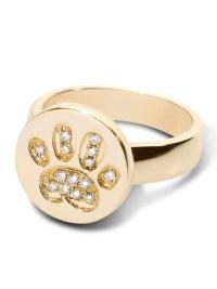 14kt WG Diamond Pave Paw Print Ring - Lisa Welch Designs