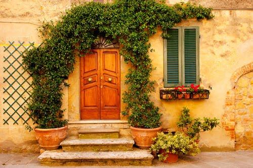 Vine Entry, Tuscany, Italy