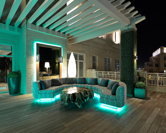 Private Residence Modern Rooftop Garden (Dallas)