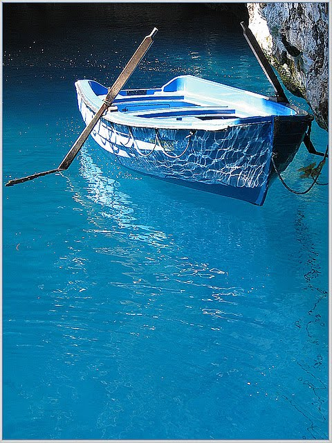 Blue Boat, Isle of Crete, Greece