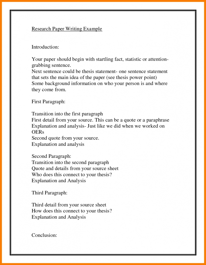 Introduction Paragraph Example Research Paper Examples And Forms