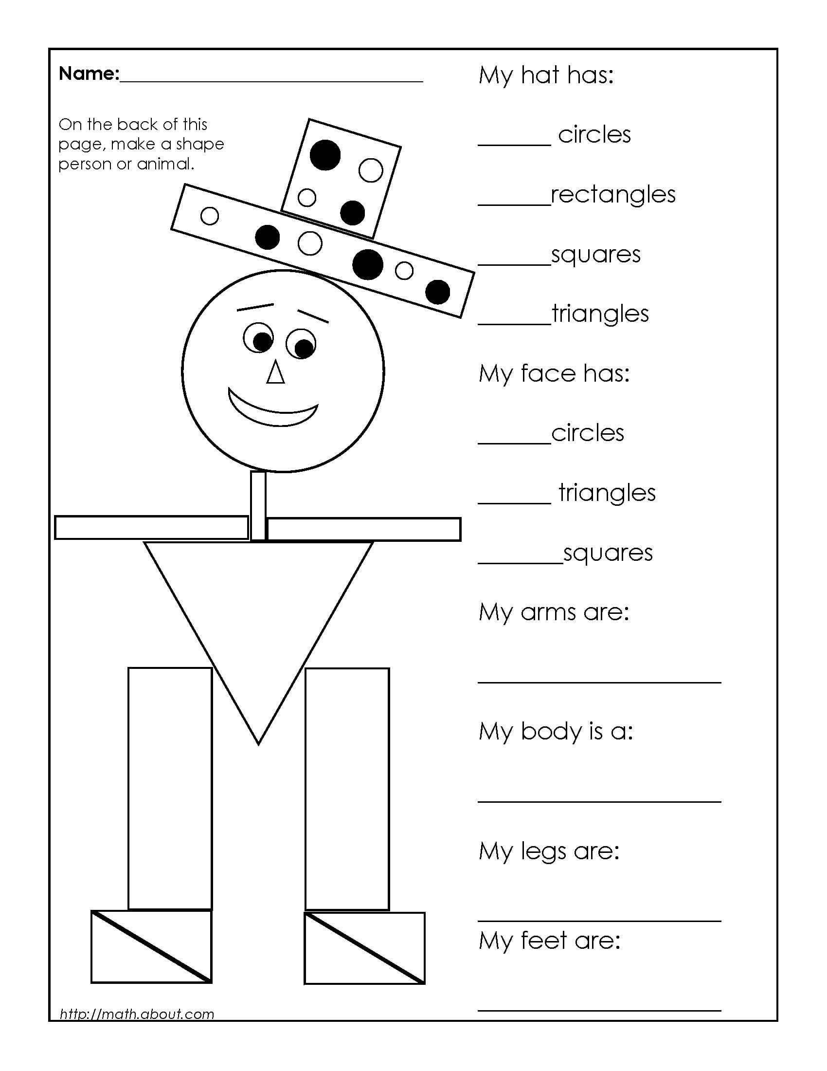 Geometry Shapes Worksheets