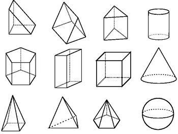 2D 3D Shapes Test Geometric Shapes Math Shapes Art Shapes