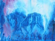 """""""Sur la piste"""" - Acrylique sur drap - 1m50 x 1m20"""