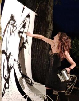 Performance équestre et picturale – 20/09/2016, Onzain (41) – La Nouvelle République