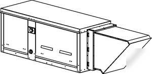 Compact heated make up air for restaurant exhaust hoods