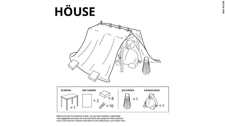 IKEA instructions for Lockdown Forts!
