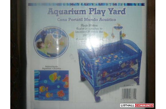 FISHER PRICE AQUARIUM PLAY YARD  sebalblina