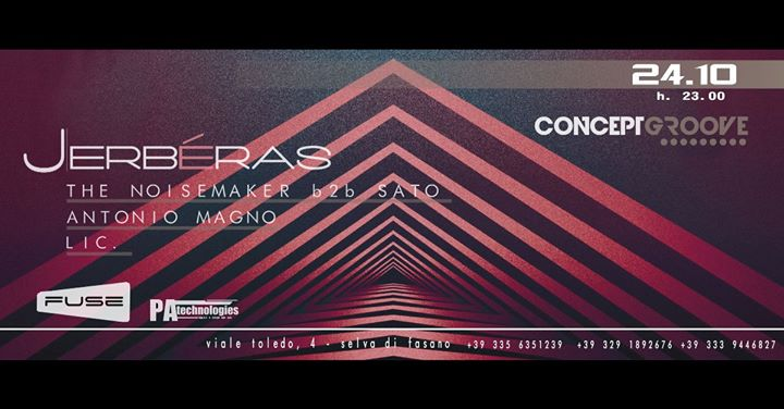 "24.10 ""Concept Groove"" Opening Winter Session @ Jerbéras"