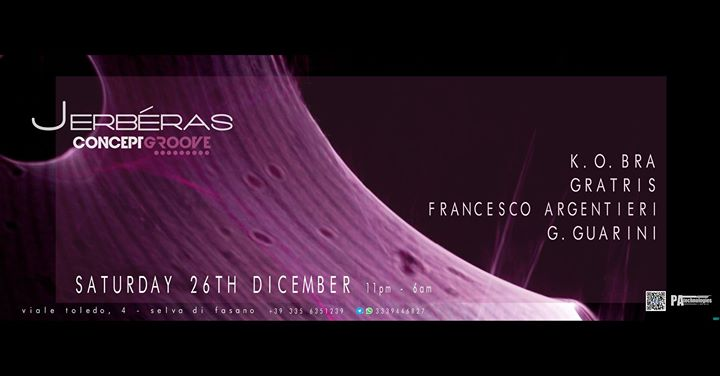 26.12 #ConceptGroove 4 S.Stefano w/ G.Guarini & Resident @Jerberas Club