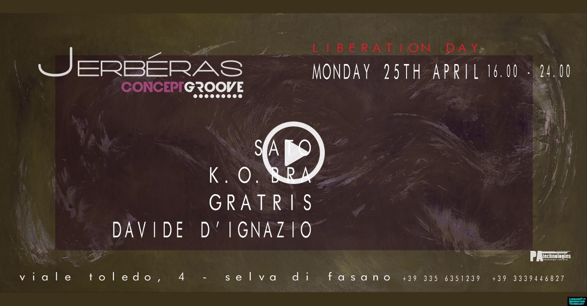 25.04 Liberation Day Concept Groove FREE ENTRY @Jerbéras