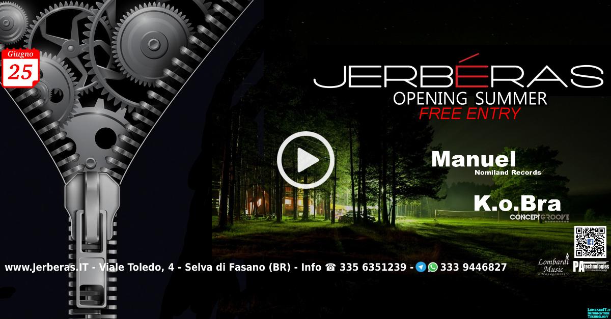 Opening Summer FREE ENTRY @ Jerbéras