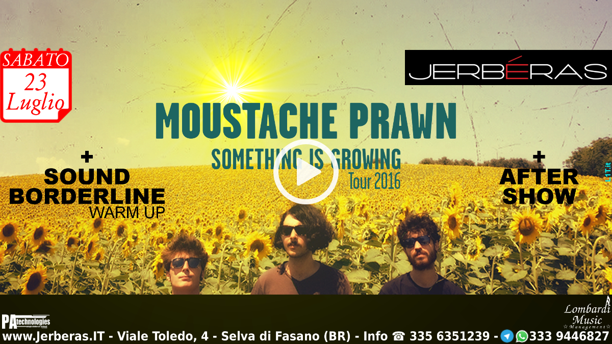 Moustache Prawn Something is Growing Tour 2016 @ Jerbéras