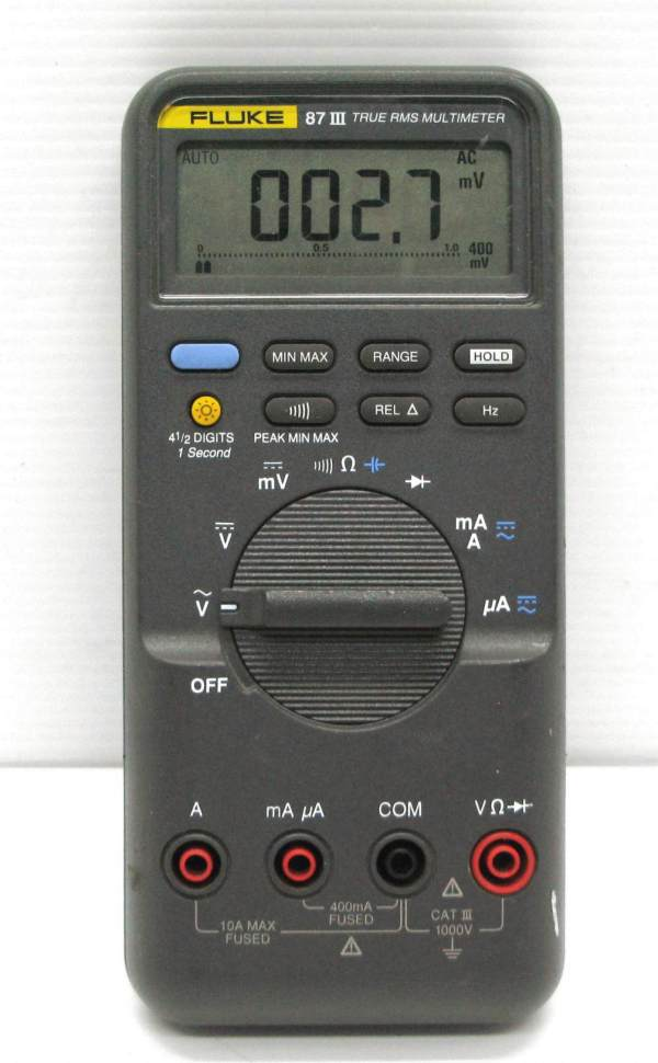 Fluke 87 Iii True Rma Multimeter Witho Probes & Leads