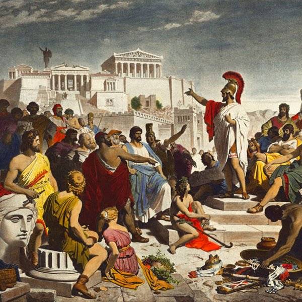 """Painting """"The Age of Pericles"""" by Philipp von Foltz (1852)"""