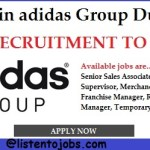 Huge Latest Job Vacancies in Asidas @Dubai,UAE